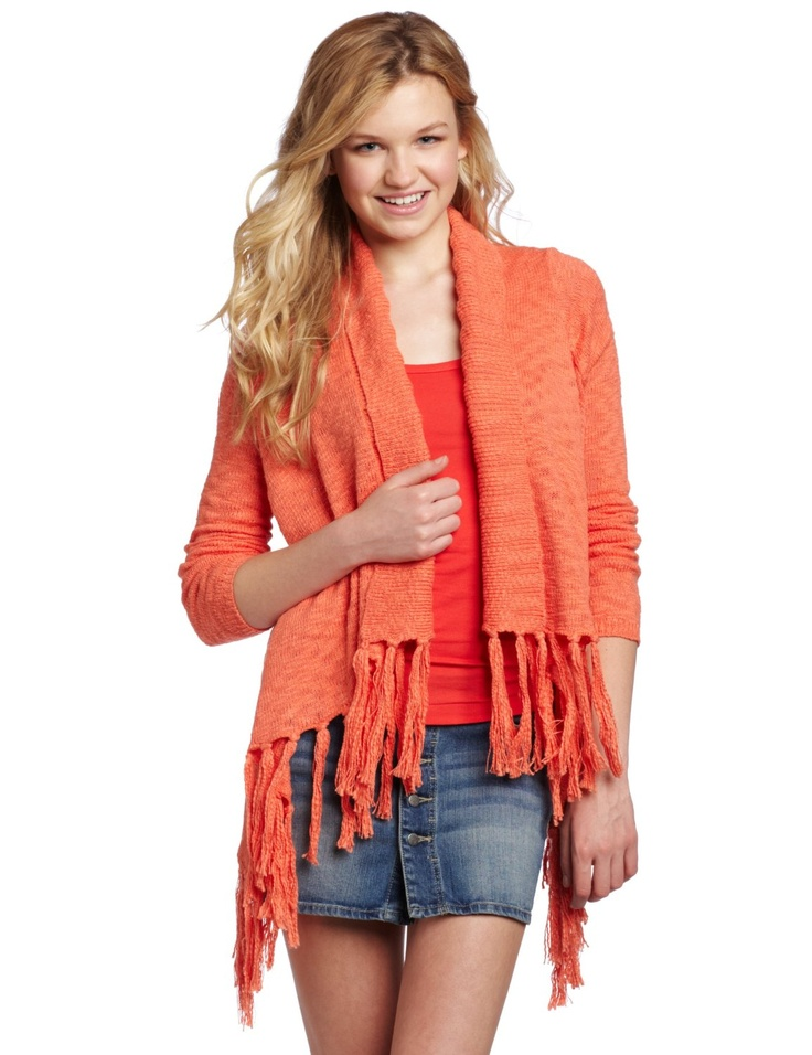 BB Dakota Juniors Alma Cardigan #Sweater - $24.21  This cotton #cardigan will add that spice to your #look, fringe detail gives this item its fun vibe, it is an easy piece to throw over a #shirt, and it will add the final touches to your #trendy #style