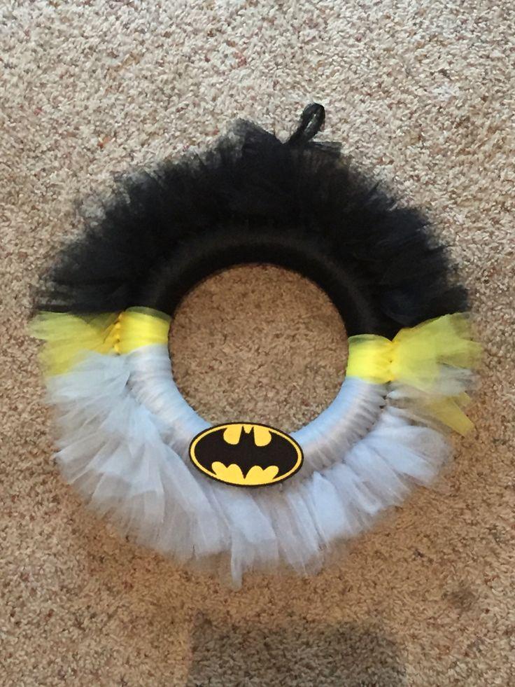 Batman Tulle Wreath More