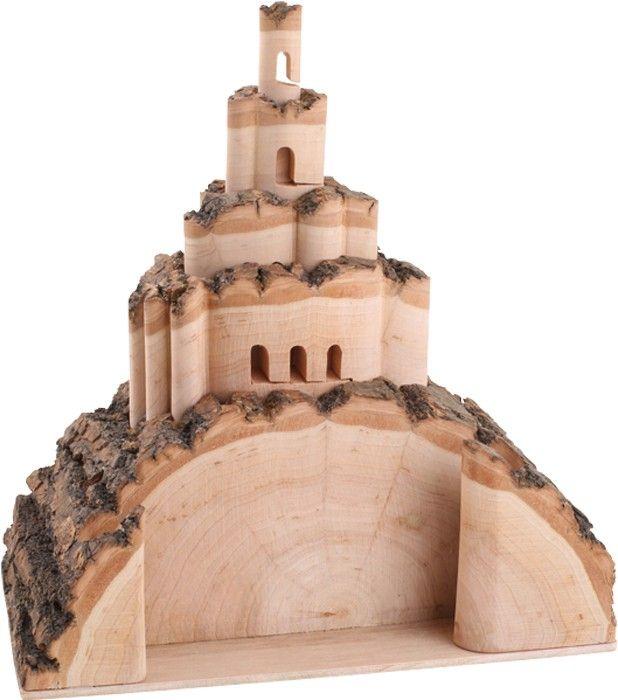 Presenteer je visitekaartjes op een unieke manier! Op het oog een stuk hout, maar omhoog geklapt ineens een prachtig kasteel.