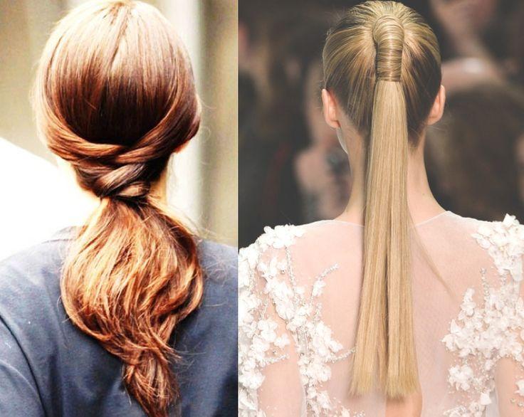 A ponytail with a twist.