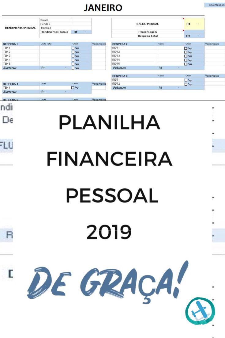 Planilha Financeira Para Comecar 2019 Planilhas Financeira