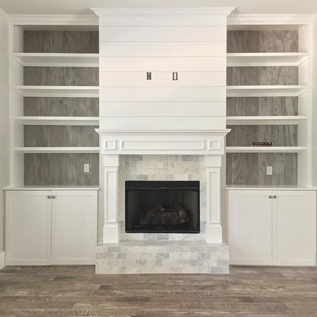 Saving for bookcase idea with fireplace