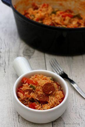 Riz à la mexicaine. Un plat complet facile et rapide qui cuit dans la même casserole pour peu de vaisselle !
