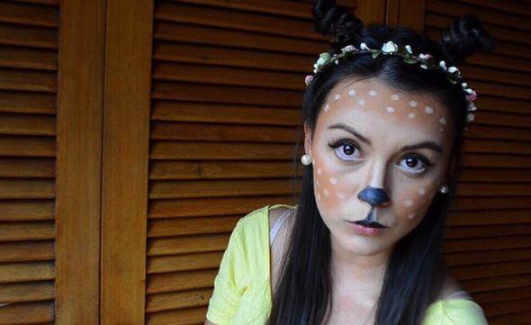 Deer Makeup! #deer #deergirl #bambi #bambimakeup #makeuphalloween