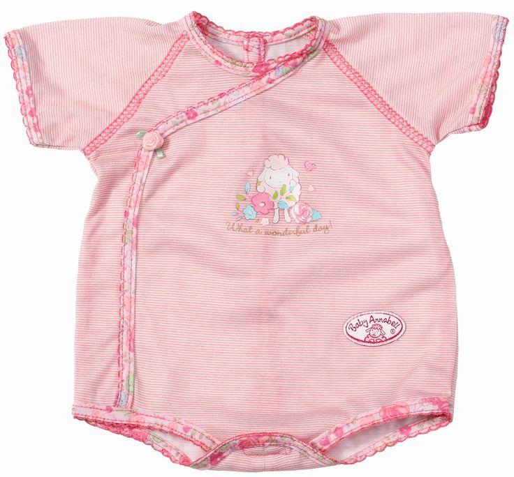 Het ondergoed van baby annabell is bijna te mooi om onder haar kleren verborgen te blijven. Het schattige kruippakje in roze is bedekt met een grappige lammetjesprint. Het kruippakje heeft een mooi asymmetrisch sierbiesje en is versierd met strikjes of roosjes.De zomer komt er weer aan en dan kan baby annabell dit schattige kruippakje zelfs als bovenkleding dragen op hele warme dagen.   Afmeting: 350x10x230 mm - Ondergoed Baby Annabell streep