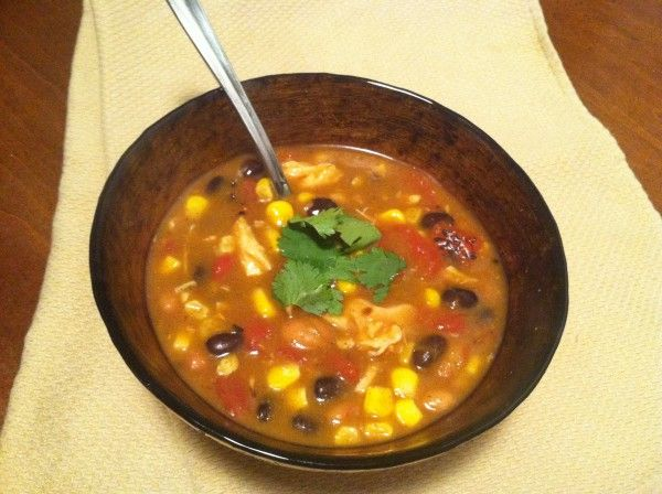 8 Can Taco Soup...can't get much easier than this! Low calorie to boot!