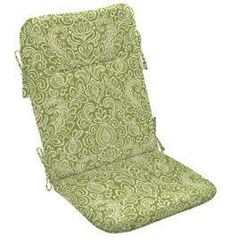Garden Treasures Green Stencil Paisley Cushion For Adirondack Chair Ad