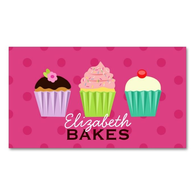 16 best business cards images on pinterest business card design cupcakes trio polka dot business card make your own business card with this great design reheart Choice Image