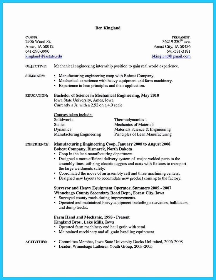 25 ap mechanic resume in 2020 engineering resume