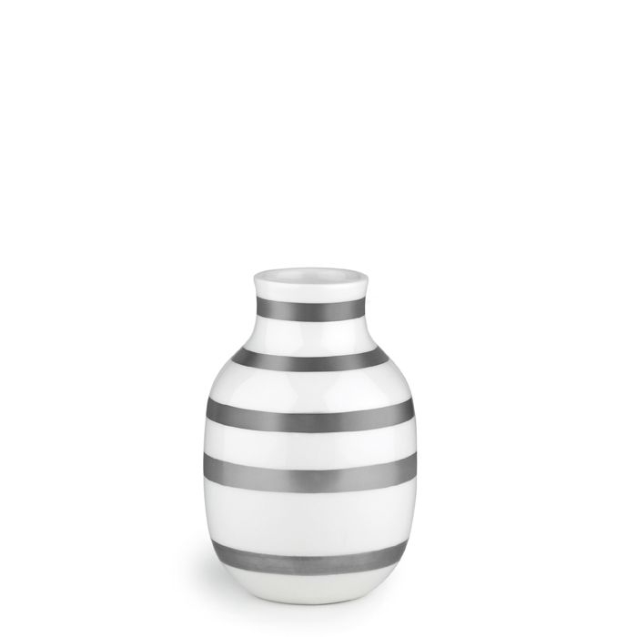 Kähler Omaggio Vase Silber 12,5 cm