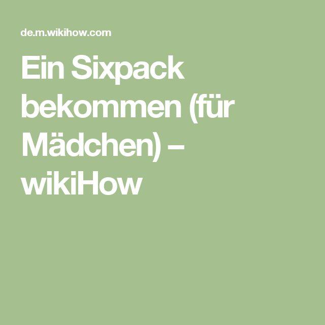 Ein Sixpack bekommen (für Mädchen) – wikiHow