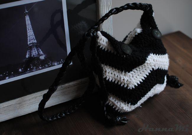 Virkattu laukku (crocheted bag)