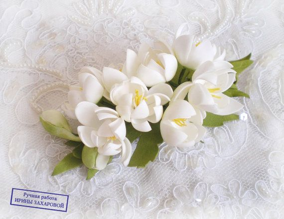 Wedding hair clipsFlower baretteWomen by FloraFantasyIZ on Etsy