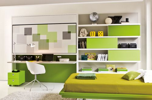 teenagers wall unit with built in study desk - Google Search