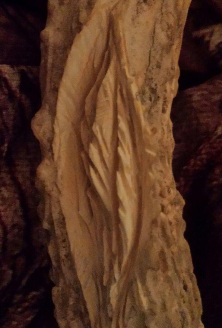 Deer Antler feather carving