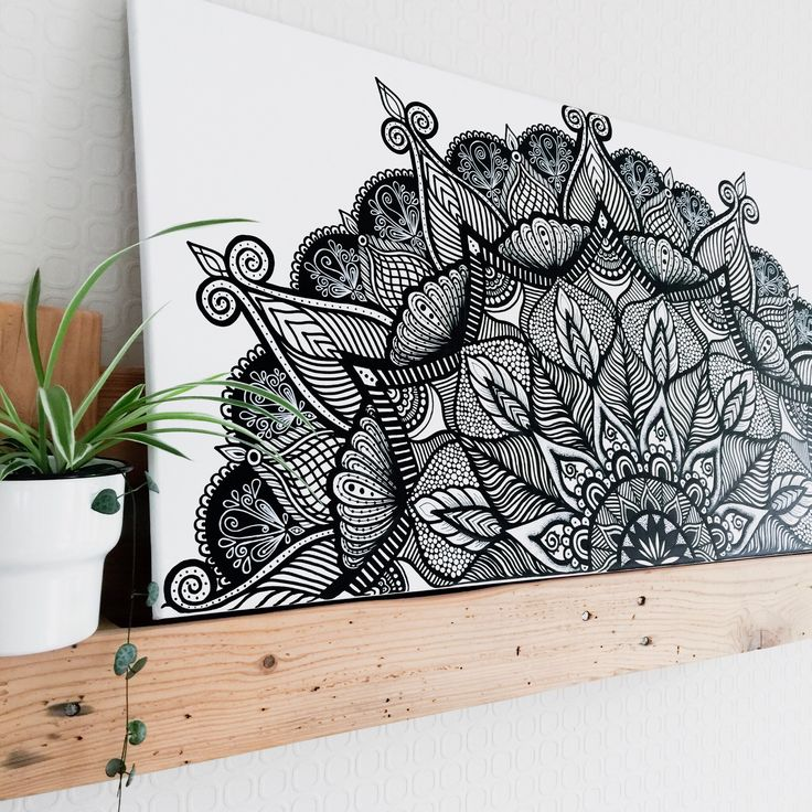 mandala canvas art  leinwand malen bilder selber malen