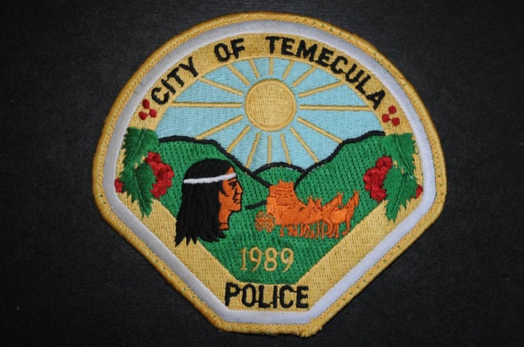 Temecula Police Patch, Riverside County Sheriff Contract Agency, Riverside County, California (Vintage 1991-2002 - 2nd Issue)