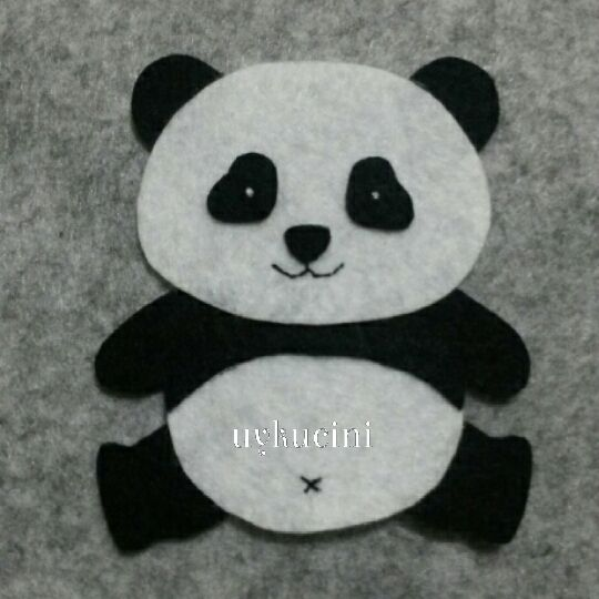 Uykucini felt panda ke e pandac k felt animals for Panda bear decor
