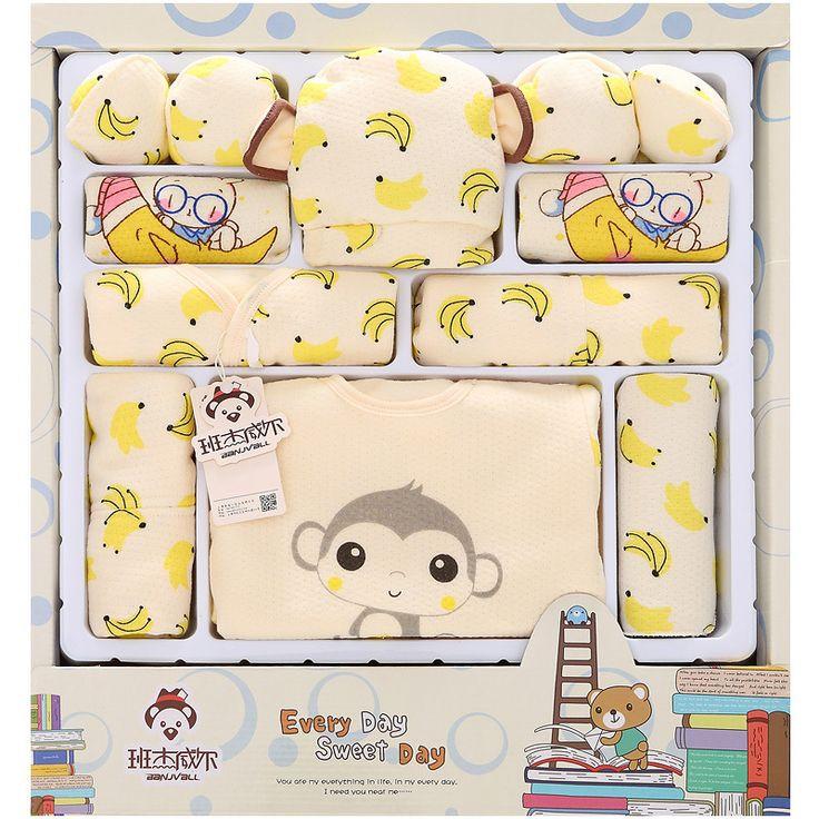 2016 Cartoon Monkey Cotton Baby Clothes Newborn Gift Sets Newborn Baby Clothing Sets Boys Girls Baby Products