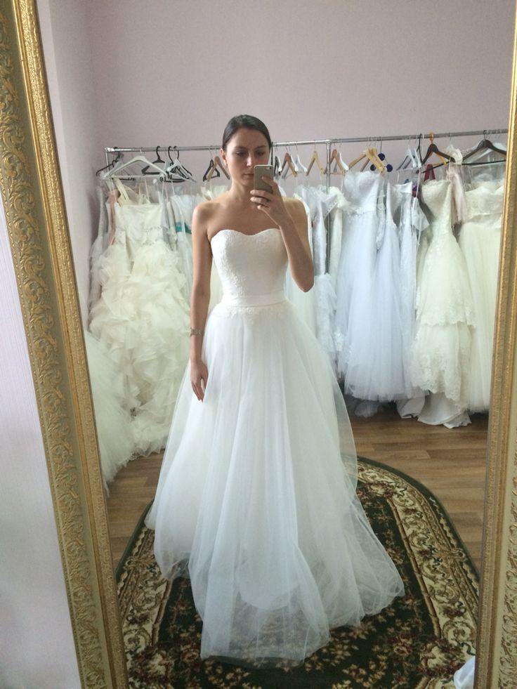 Свадебное платье белое фатин