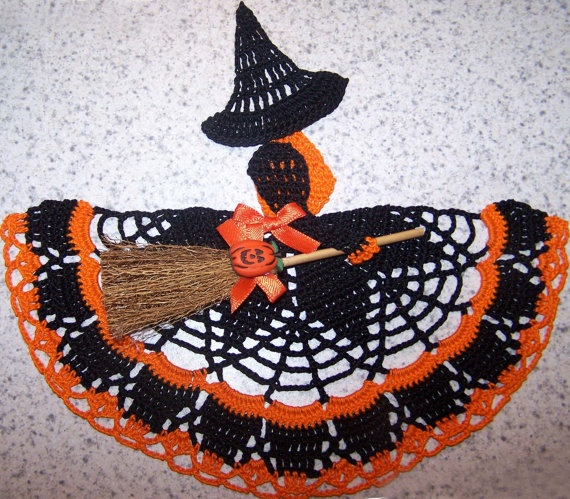 NEW Crochet Halloween Witch Crinoline Doily by DianesCustomCrochet, $16.99