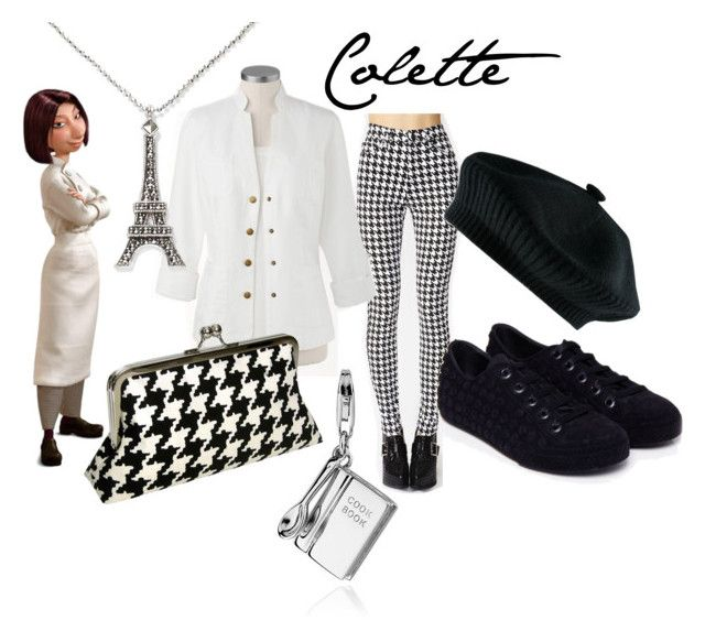 Colette from Ratatouille by likeghostsinthesnow on Polyvore featuring polyvore fashion style Coldwater Creek Melissa Blue Nile Judith Jack SOLD Design Lab women's clothing women's fashion women female woman misses juniors houndstooth movie pixar animated cooking colette beret character french film paris ratatouille chef disney animation
