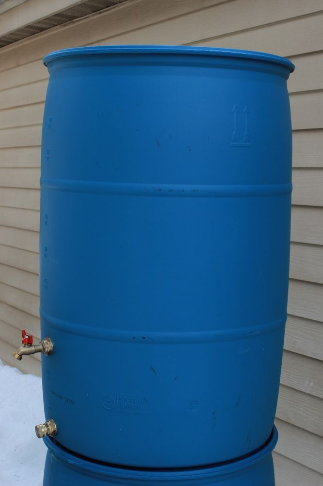 $55 for setup with gutter redirect, spigot and hose hookup. $15 for barrel w/hose hookup only. Cheshire, CT Local Pick UP ONLY 55 Gallon Rain Barrel USED Food Grade Barrel with New Parts