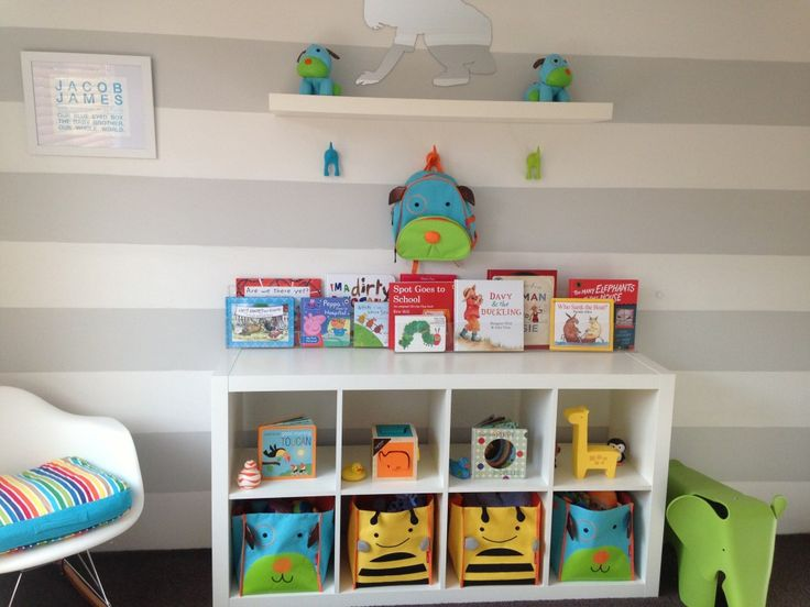 Perfectly styled and organized @IKEA USA shelves! #nursery #organization: Book