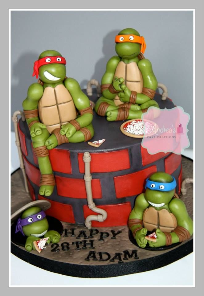 Ninja Turtle cake by Andrea's Cake Creations