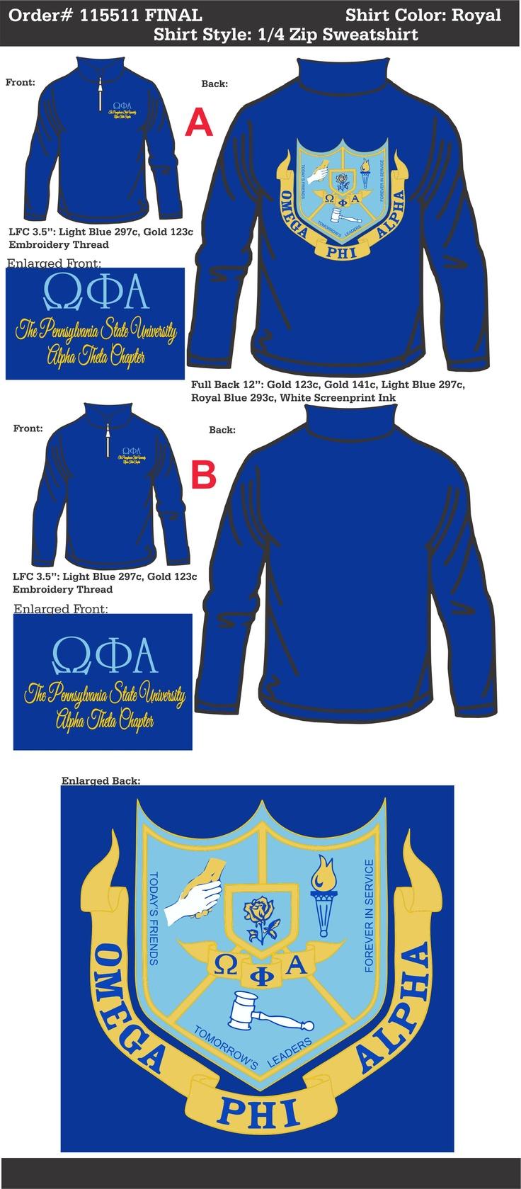 Omega Phi Alpha Sweatshirt  http://www.greekt-shirtsthatrock.com/    (From Alpha Theta Chapter) I want thissss!