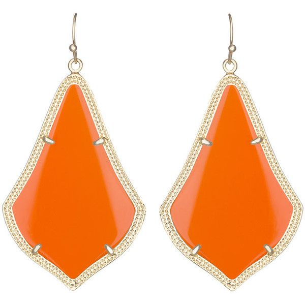 Kendra Scott Alexandra Large Glass Drop Earrings ($40) ❤ liked on Polyvore featuring jewelry, earrings, orange gol, 14 karat gold jewelry, bead jewellery, glass bead jewelry, kendra scott earrings and 14k earrings