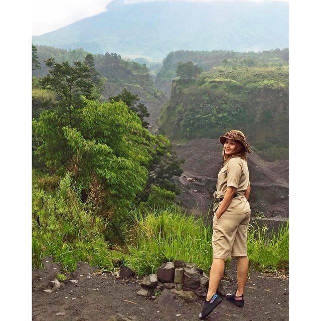 Merapi mountain after huge eruption in 2010