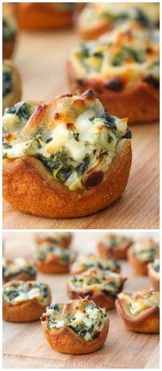 Spinach Dip Bites - a great new appetizer recipe you will LOVE! { lilluna.com }