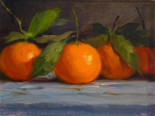 "Daily Paintworks - ""Clementine Oranges"" by Manuel Bascon Moyano"