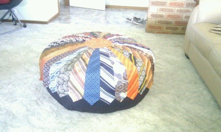 Made from op shopped ties!