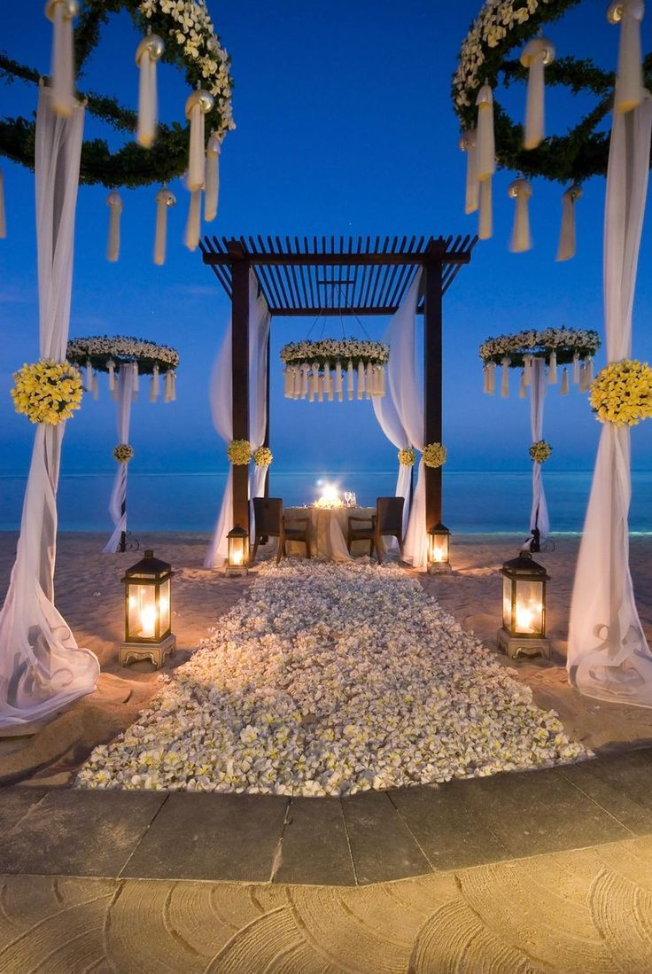 Beachside Evening Wedding