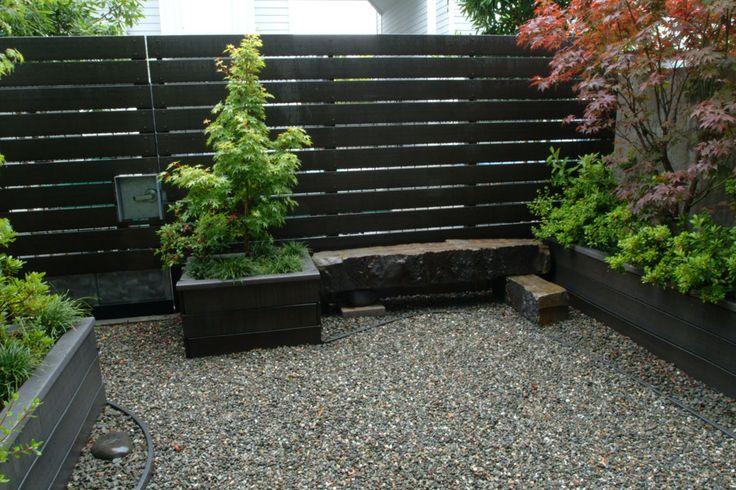 Stone Bench Trex Fence Backyard Pinterest I Want