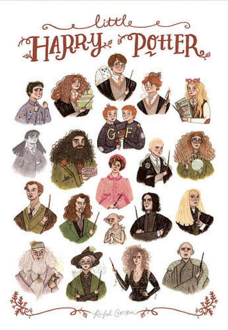 Harry Potter watercolor printable wall art | illustrations of all the main characters | fun home decor or dorm room poster | instant download, print and frame at home | gift idea for Harry Potter fan | #affiliate