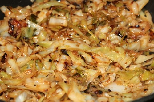 buttery fried cabbage - yum