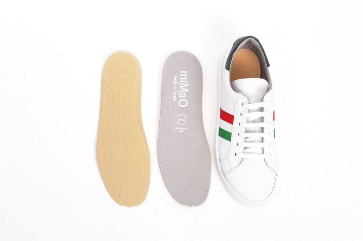 miMaO allsport–  zapatilla deporte mujer plano cómodo piel - Comfort women's flat shoes trainers  golden cooper suede leather
