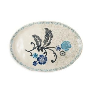 Hand Painted Floral Platter