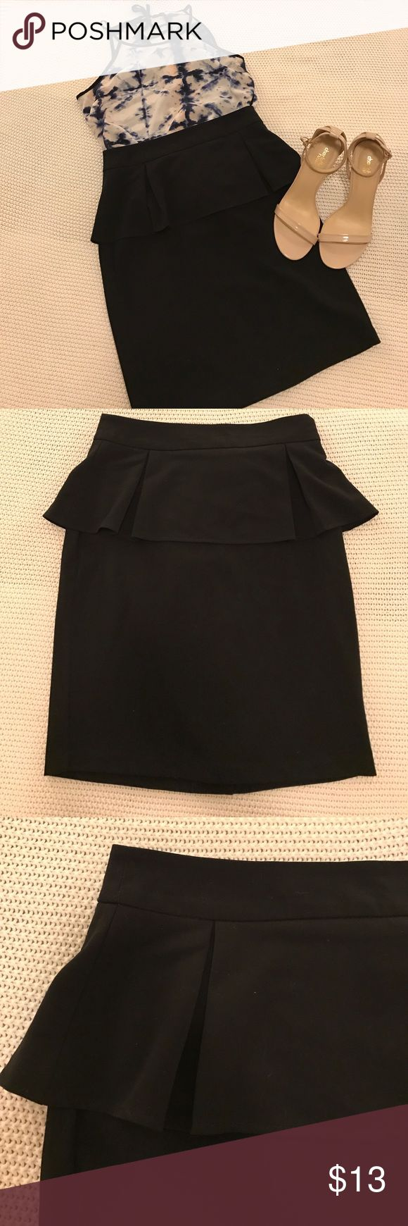 Black Peplum Skirt NWT. Size S. Perfect for work with a pair of heels. Forever 21 Skirts
