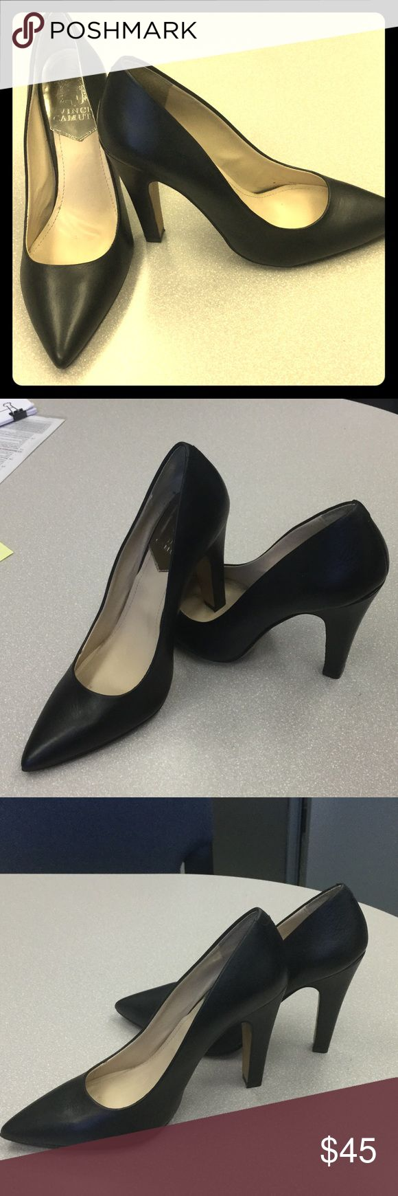 Vince Camuto Black Pumps SALE!! Vince Camuto Black Pumps in good condition, worn literally six times. I just hand them shined for their new owner! Vince Camuto Shoes Heels