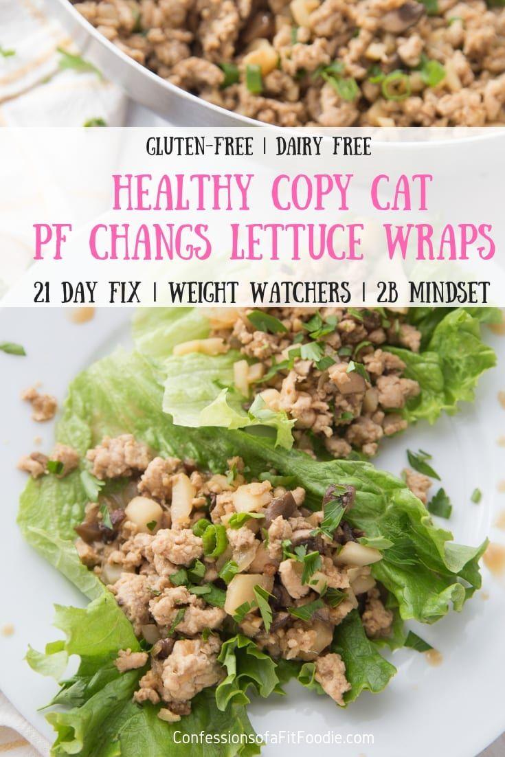 Diese Copy Cat PF Changs Hähnchen-Salat-Wraps sind eine gesündere Version …   – Weight Watchers Recipes
