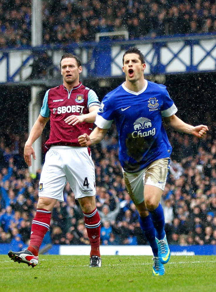~ Kevin Mirallas of Everton FC celebrating his goal against West Ham ~