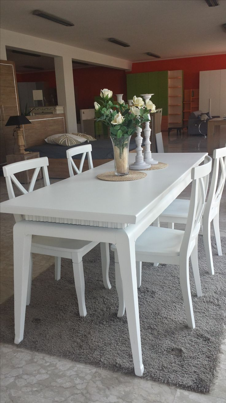 vintage white table