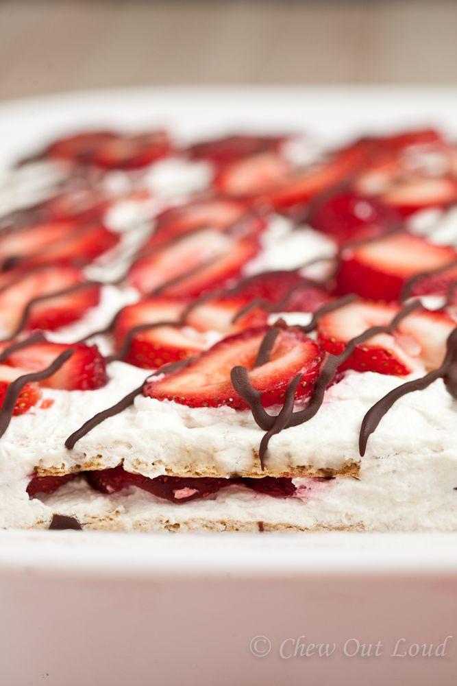 Strawberry Icebox Cake No Bake  Chew Out Loud cakepins.com