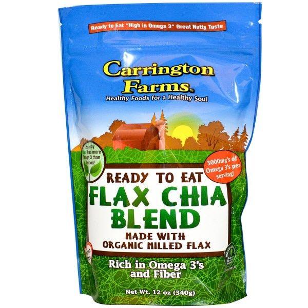 Carrington Farms готовые к употреблению, Organic Flax Чиа смесь, 12 унций (340 г)