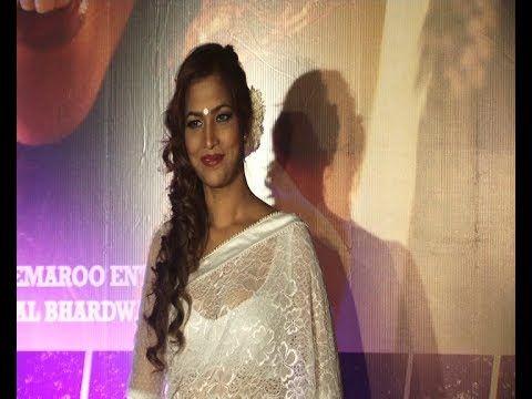 Tanisha Singh in WHITE TRANSPARENT SAREE at DEDH ISHQIYA premier.