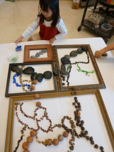 frames for loose parts to encourage composition